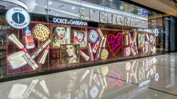 Dolce&Gabbana Sephora Dubai Mall Window.