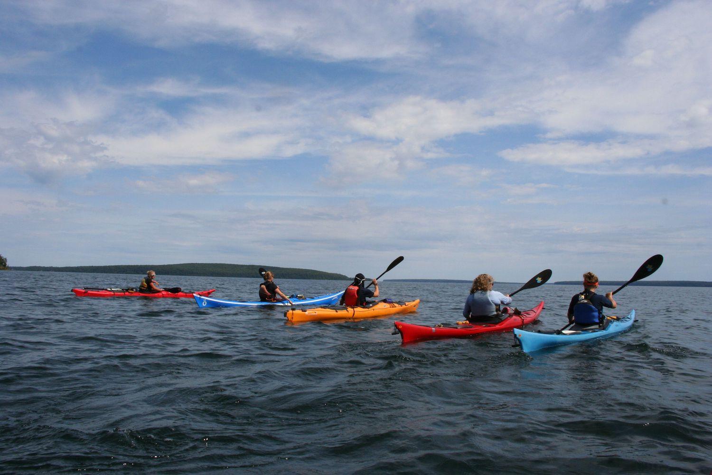 Kayaking the Gile Flowage