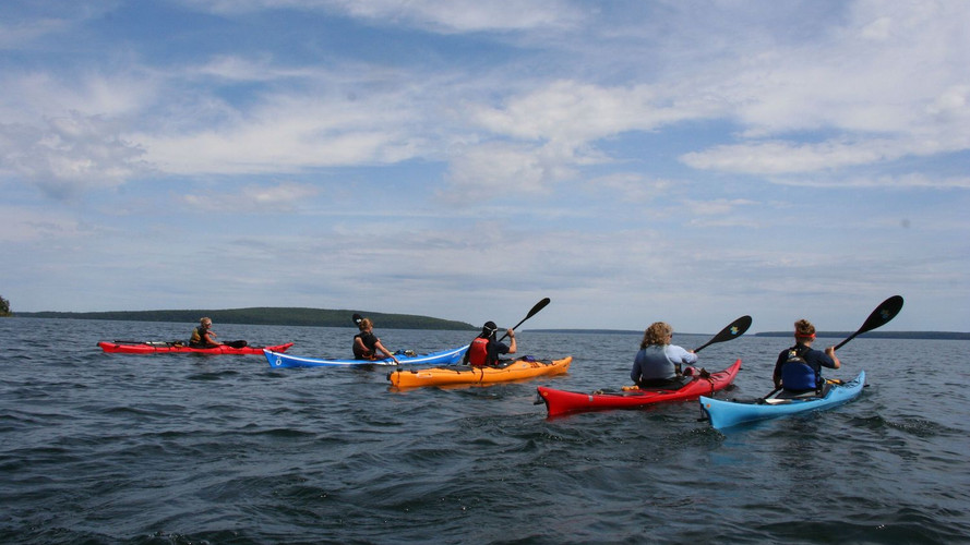 Group of Sea Kayakers