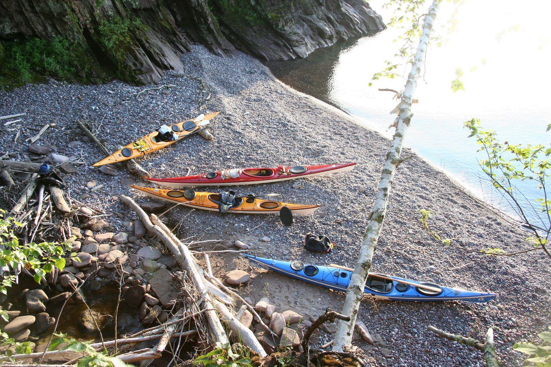 Landing Kayaks on Rocky Beach