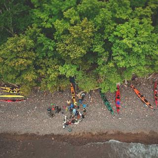 Shoreline Kayak Camping Trip
