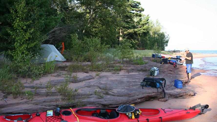 Kayak Camping on Beach