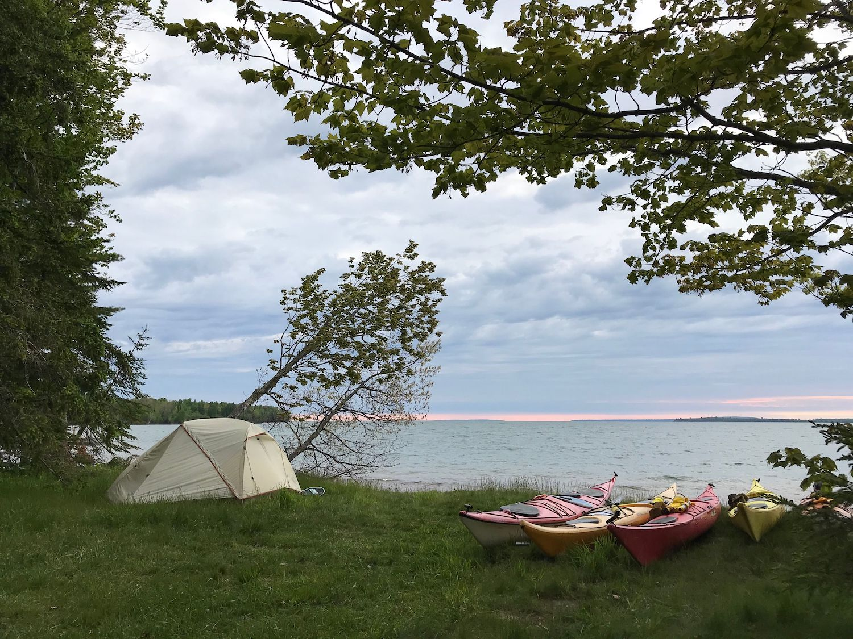 Kayak Camping on Sand Island