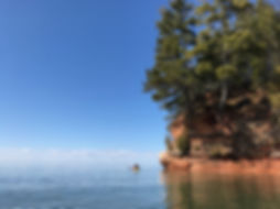 Kayaking the Sea Caves in Bayfield Wisconsin