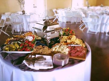 Pirkles Deli Wedding, Outdoor, table placement, Appitizer