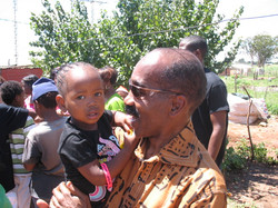 South Africa. Ron with Baby