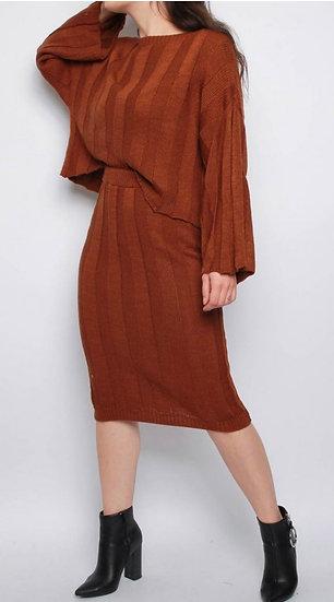 Knitted Jumper & Midi Skirt Co-ord Set