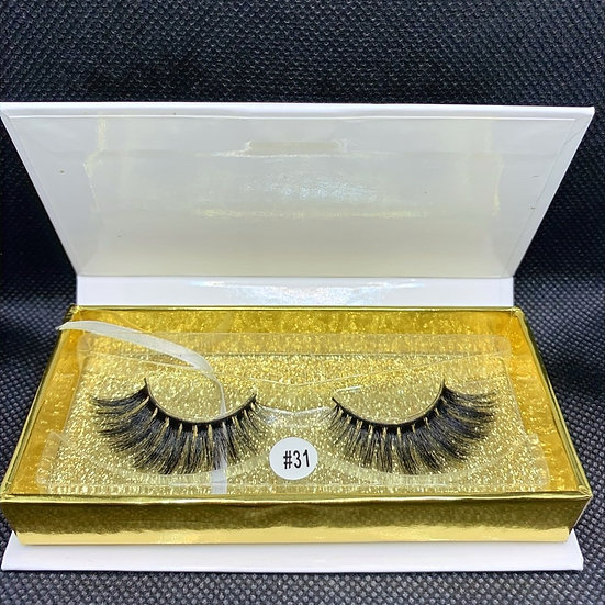 Diamond modest #31 3D luxury reusable mink eyelashes