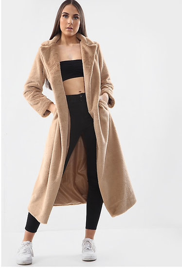 Long Line Soft Faux Fur Coat