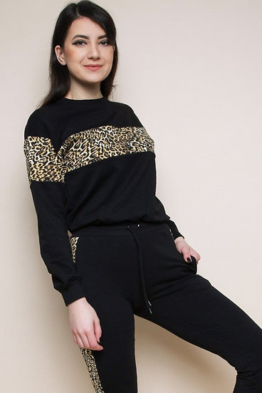 Leopard Stripe Loungewear Set