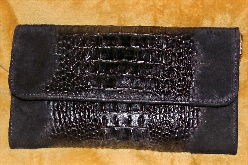 Ruvimbo Queen Black clutch leather Bag