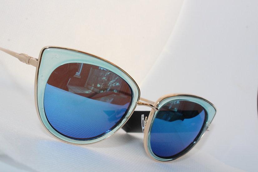 Blue sunglasses UV protection