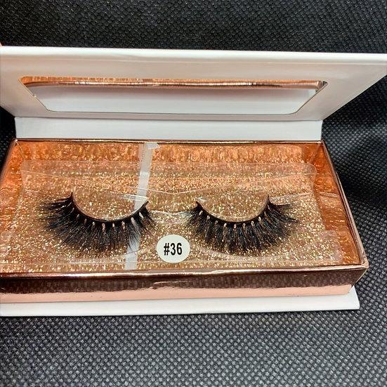 Tempting Beauty #36 3D Luxury reusable mink eyelashes