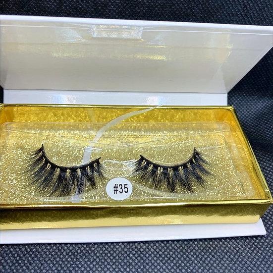 Sassy Empress #35, 3D Luxury reusable mink eyelashes