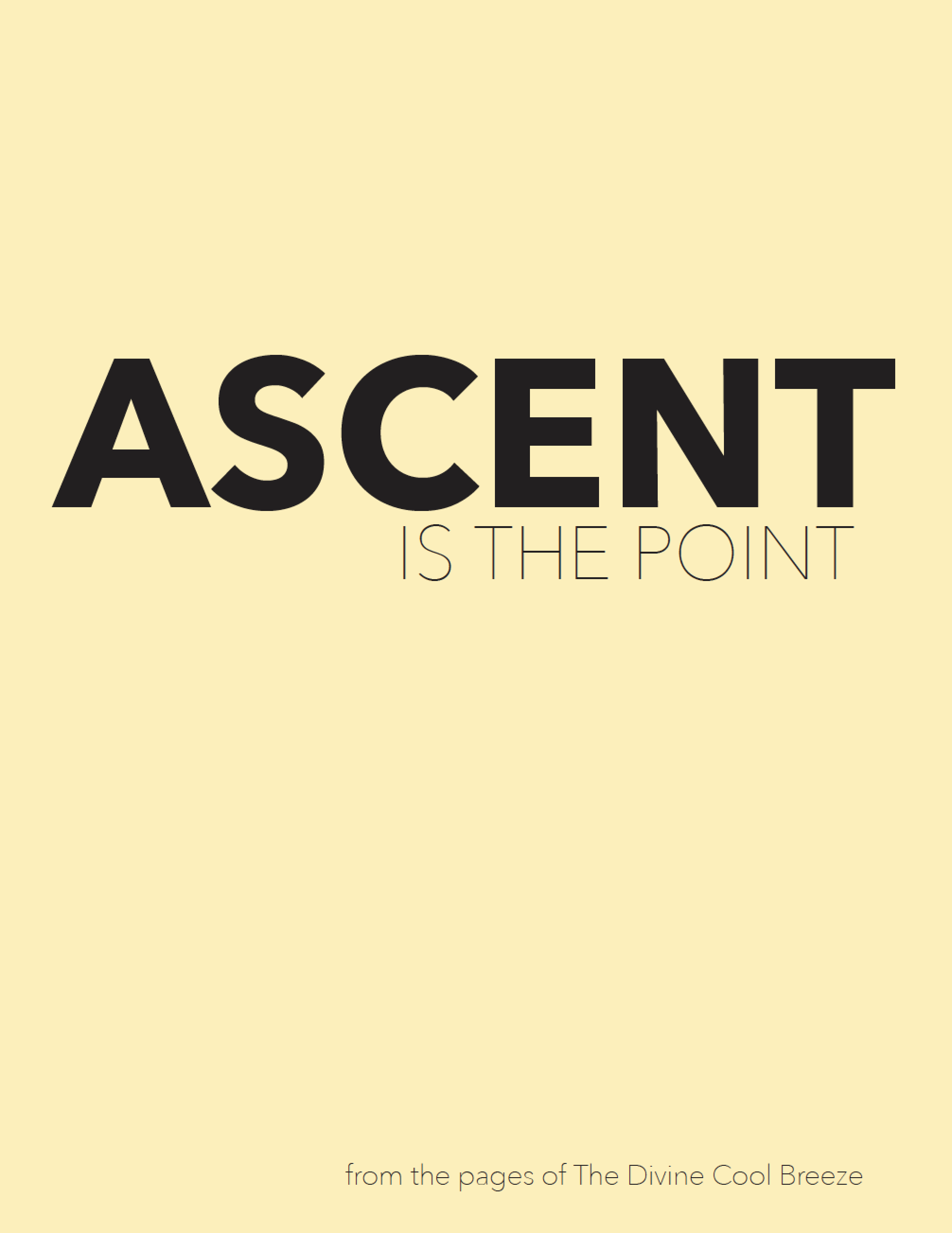ASCENT IS THE POINT