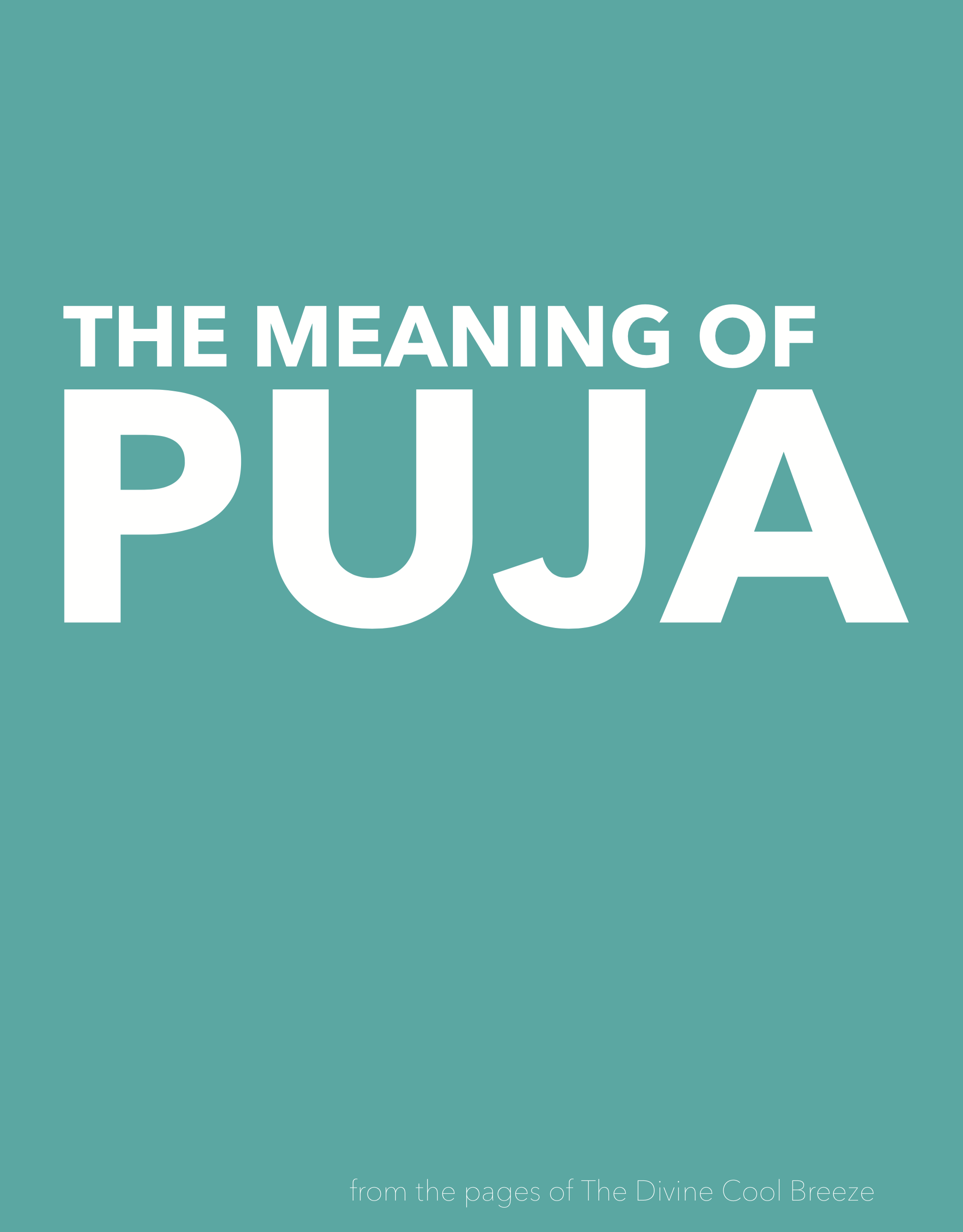 TE MEANING OF PUJA