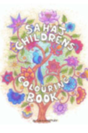 SAHAJ CHILDREN'S COLOURING BOOK front co