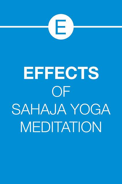 EFFECTS OF SAHAJA YOGA MEDITATION