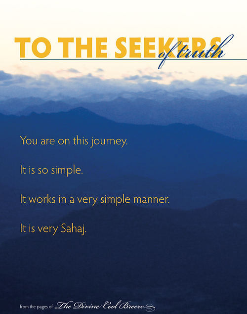 TO THE SEEKERS OF TRUTH