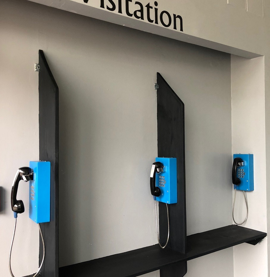 Visitation Center, complete with phones!