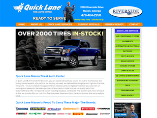 Bibb Media completes design of new Quick Lane Macon website.