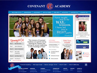Bibb Media completes new Covenant Academy website.