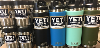 Yeti cups, Yeti rambler, Chuck's Gun and Pawn, Colored Yeti