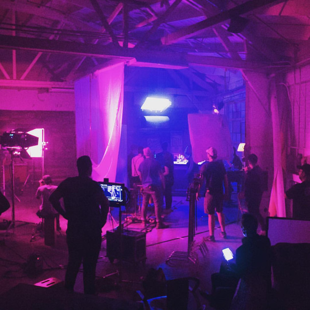NIc on set of Dreamers Fat Tire Studios