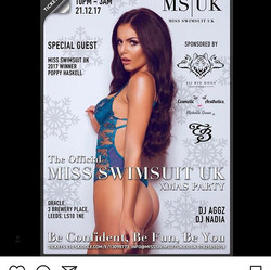 Good luck _poppyhaskell _missswimsuituk World Final in Mexico! 💖💖💖💖💖_CU 21st Dec at _oracleleeds to celebrate your return! 👑 tickets still a