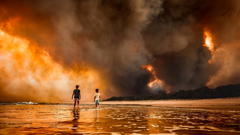 Bushfire near Black Head Beach in NSW
