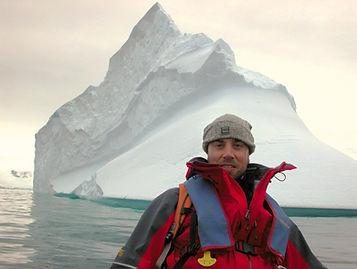 | Richard Plumpton off Orne Island, Antarctica |