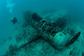 Diving on a WWII Plane Wreck in PNG