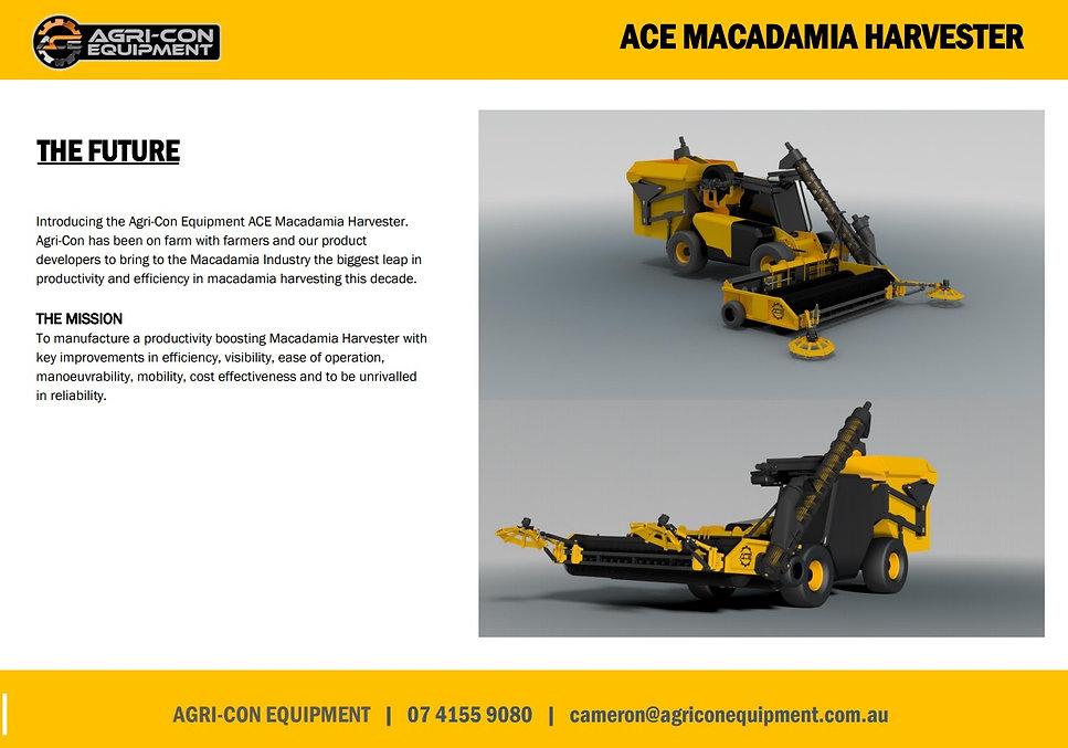 Macadamia Harvester, ACE Mac, ACE Macadamia Harvester, agri-con harvester, agri-con, agri-con equipment