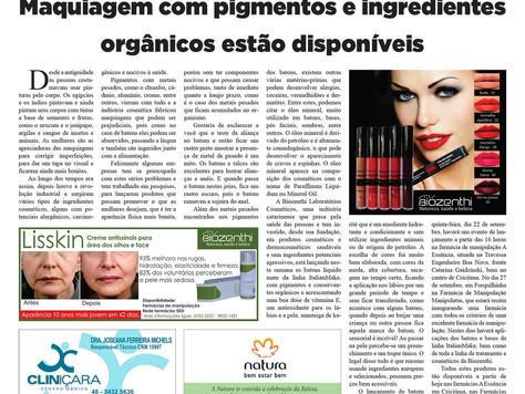 Maquiagem com pigmentos e ingredientes orgânicos estão disponíveis