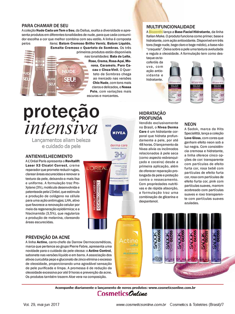 Revista Cosmetics & Toiletries - bases