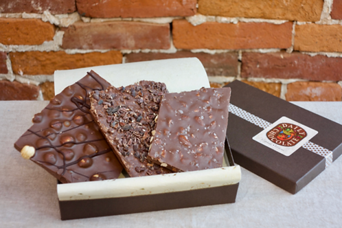 MILK CHOCOLATE TRIO BARK BOX
