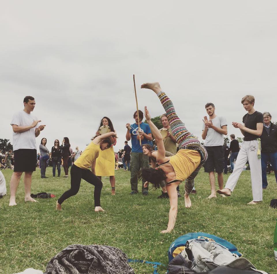 Capoeira roda at Lambeth Country Fair, Brockwell Park, Brixton