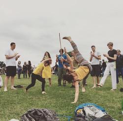 Capoeira roda at Lambeth Country Fair, Brockwell Park, Brixton