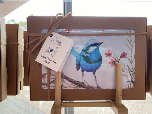 Silken Twine - Splendid Blue Wren Scarf