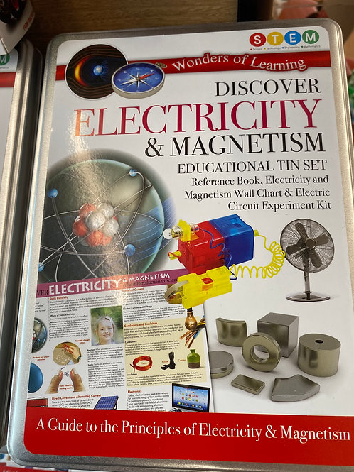 Discover Electricity & Magnetism - Educational Tin Set