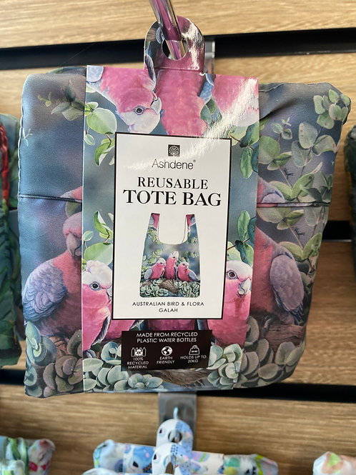 Ashdene Reusable Tote Bag - Australian Bird & Flora Galah