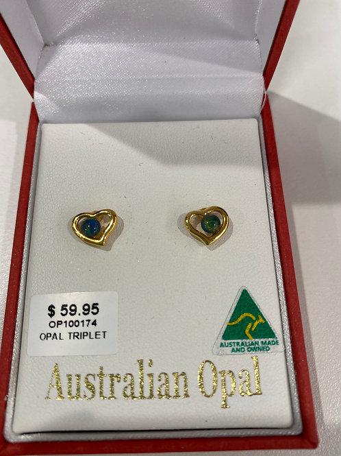 OP100174 - Opal Earrings - Gold