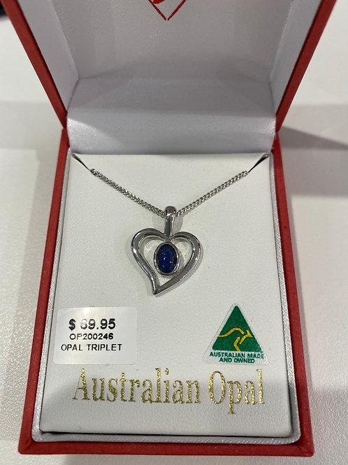 OP200246- Silver Opal Pendant & Necklace