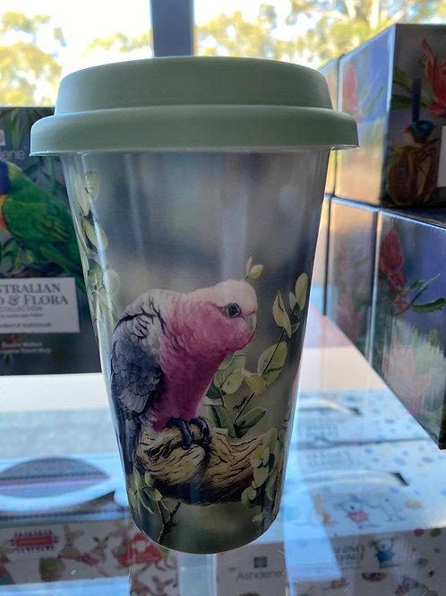 Ashdene Travel Mug - Galah & Silver Dollar Eucalyptus