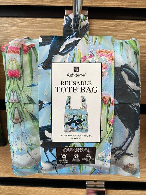 Ashdene Reusable Tote Bag - Australian Bird & Flora Magpie
