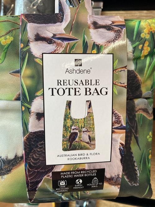 Ashdene Reusable Tote Bag - Australian Bird & Flora Kookaburra