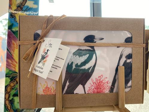 Silken Twine - Australian Magpie Scarf