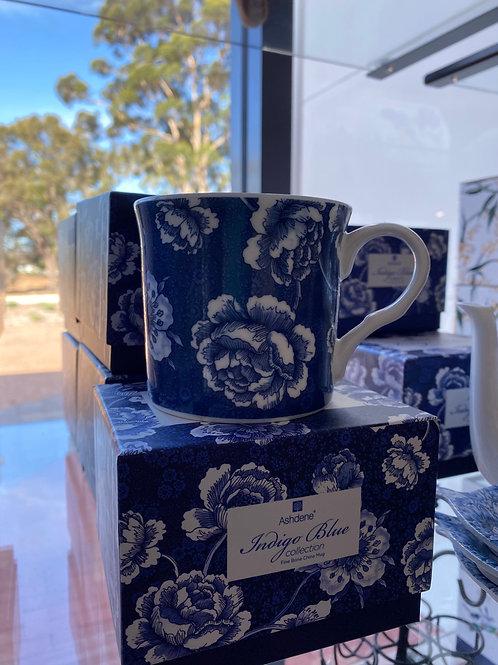Ashdene - Indigo Blue Roses Wide Flare Mug