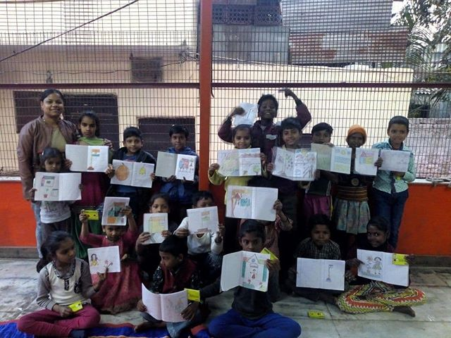 Painting competition with children, NFE Centre