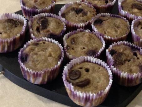 Chocolate Blueberry Banana Muffins
